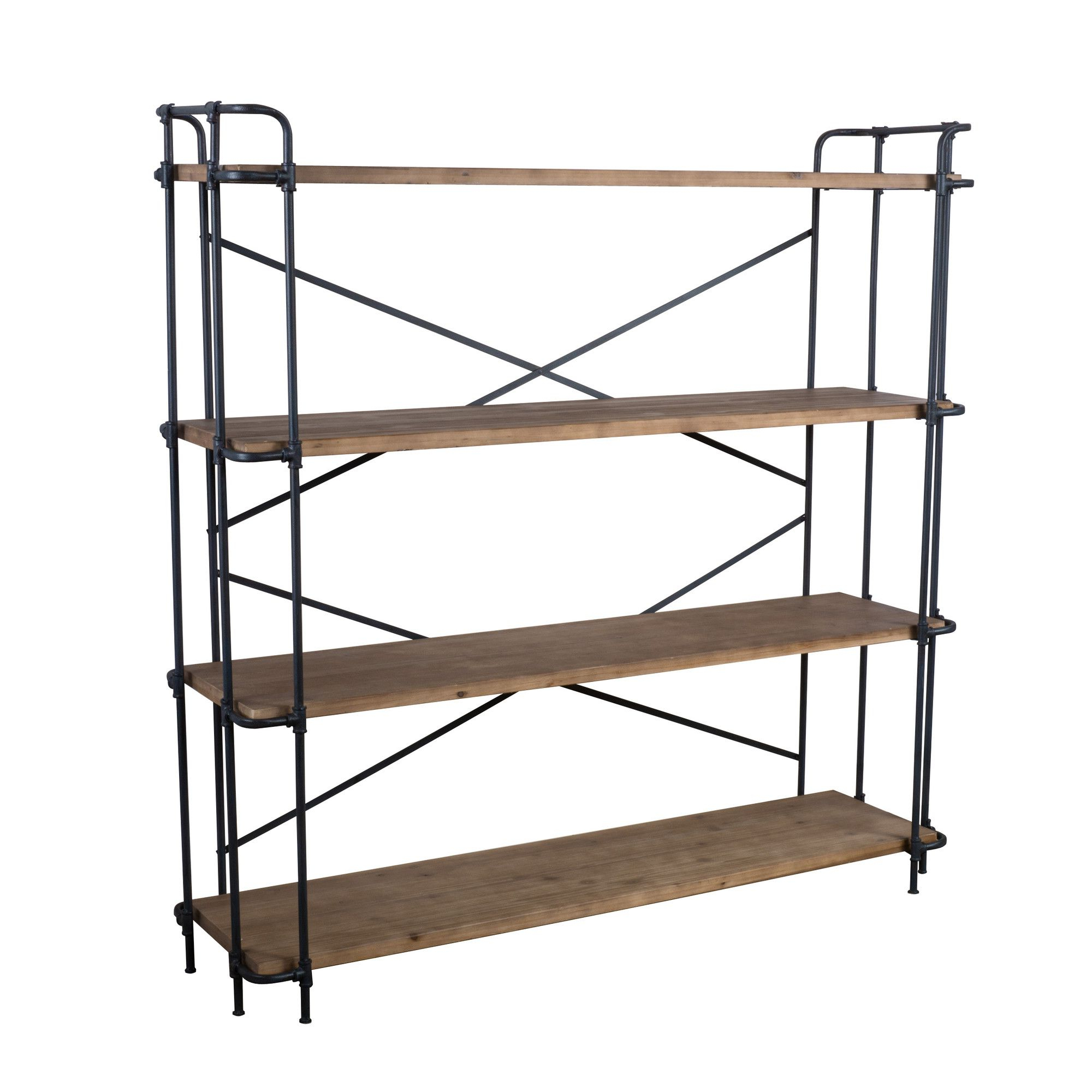 Fashionable Cifuentes Dual Etagere Bookcases Regarding Ebenier Etagere Bookcase (View 6 of 20)