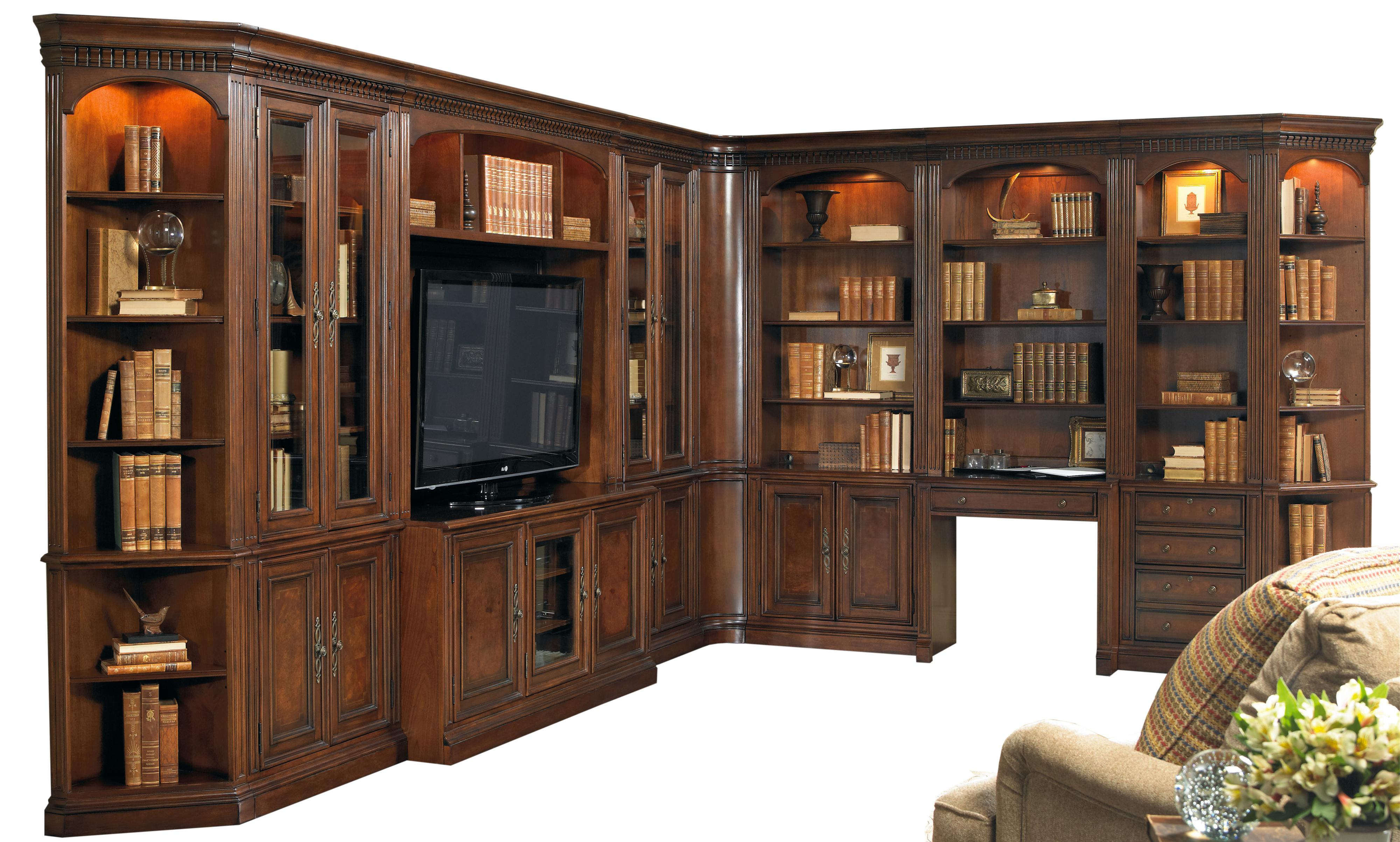 Fashionable Corner Unit Bookcases With Regard To European Renaissance Ii 11 Piece Entertainment And Office Corner Wall Unit Hamilton Home At Rotmans (View 6 of 20)
