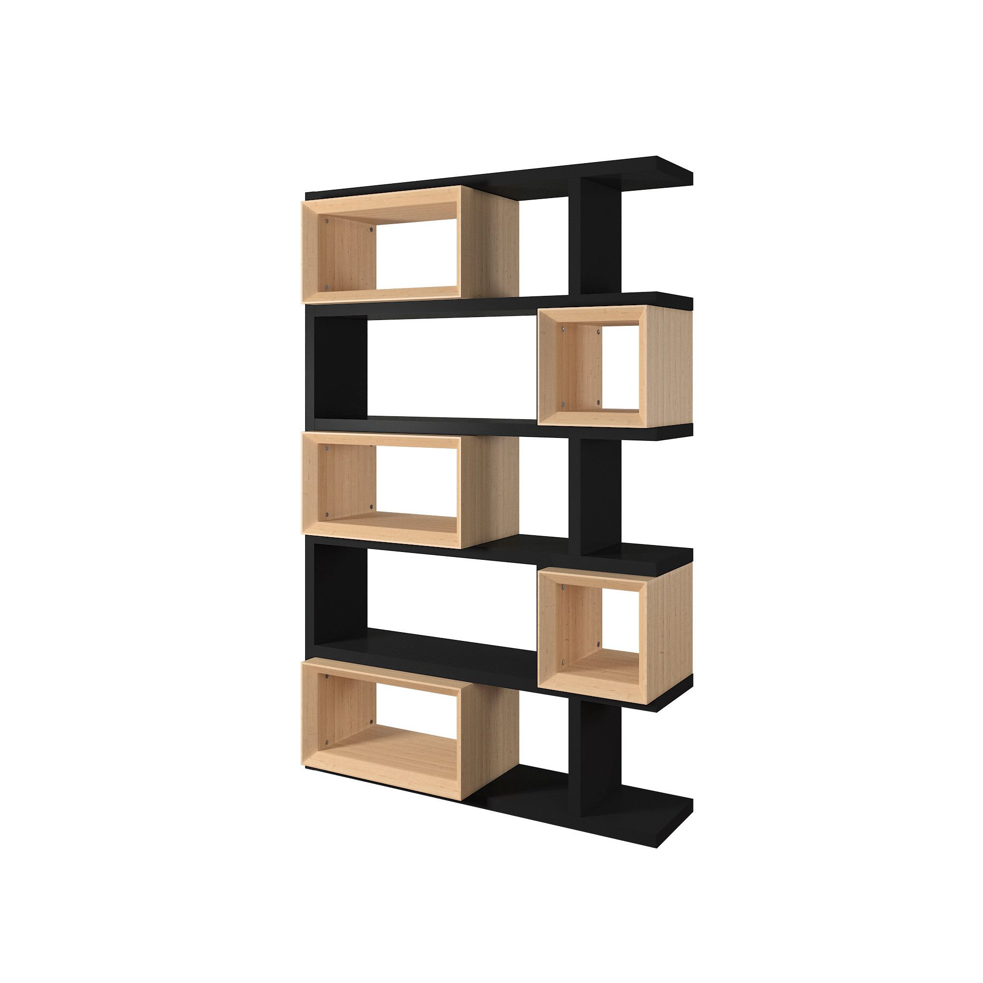 Fashionable Erika And Finish Open Bookshelfmid Century Living Throughout Chantilly Geometric Bookcases (View 12 of 20)