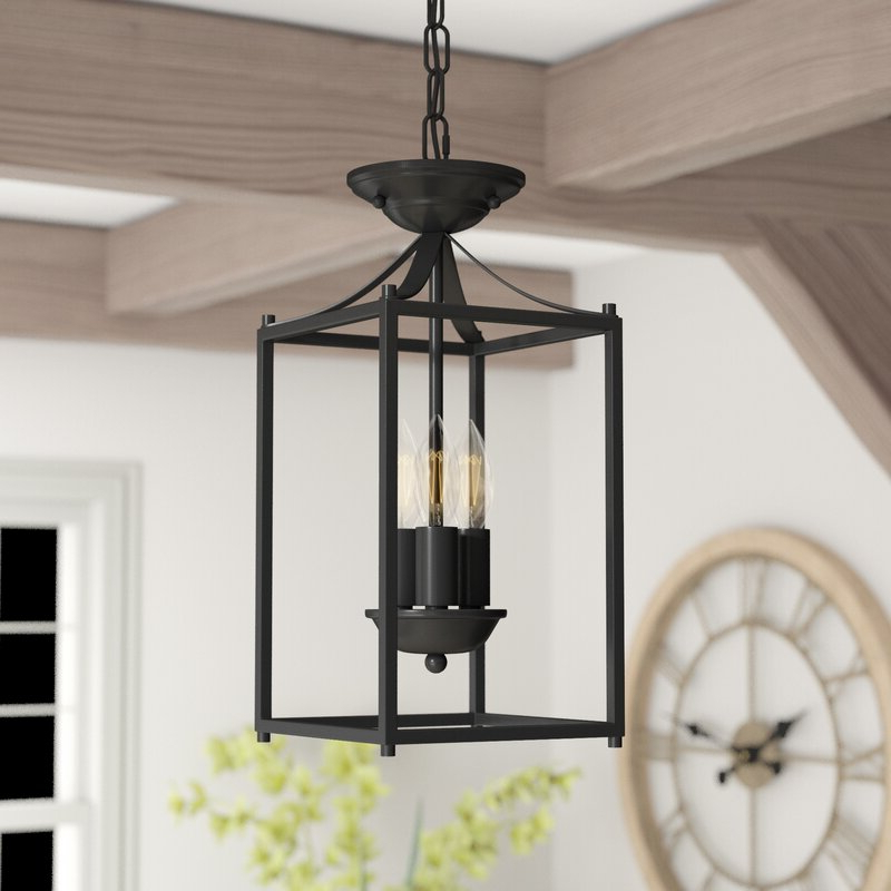 Fashionable Finnick 3 Light Lantern Pendants Regarding Barryton 3 Light Lantern Square Pendant (View 8 of 25)