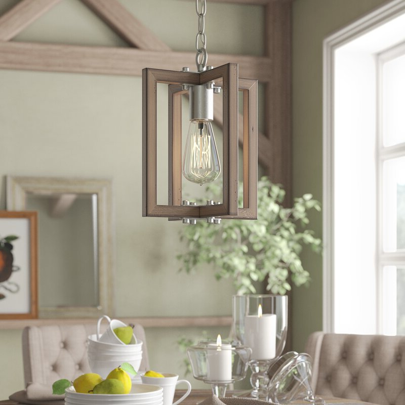 Fashionable Freeburg 4 Light Lantern Square / Rectangle Pendants With Daugherty 1 Light Single Square/rectangle Pendant (View 12 of 25)