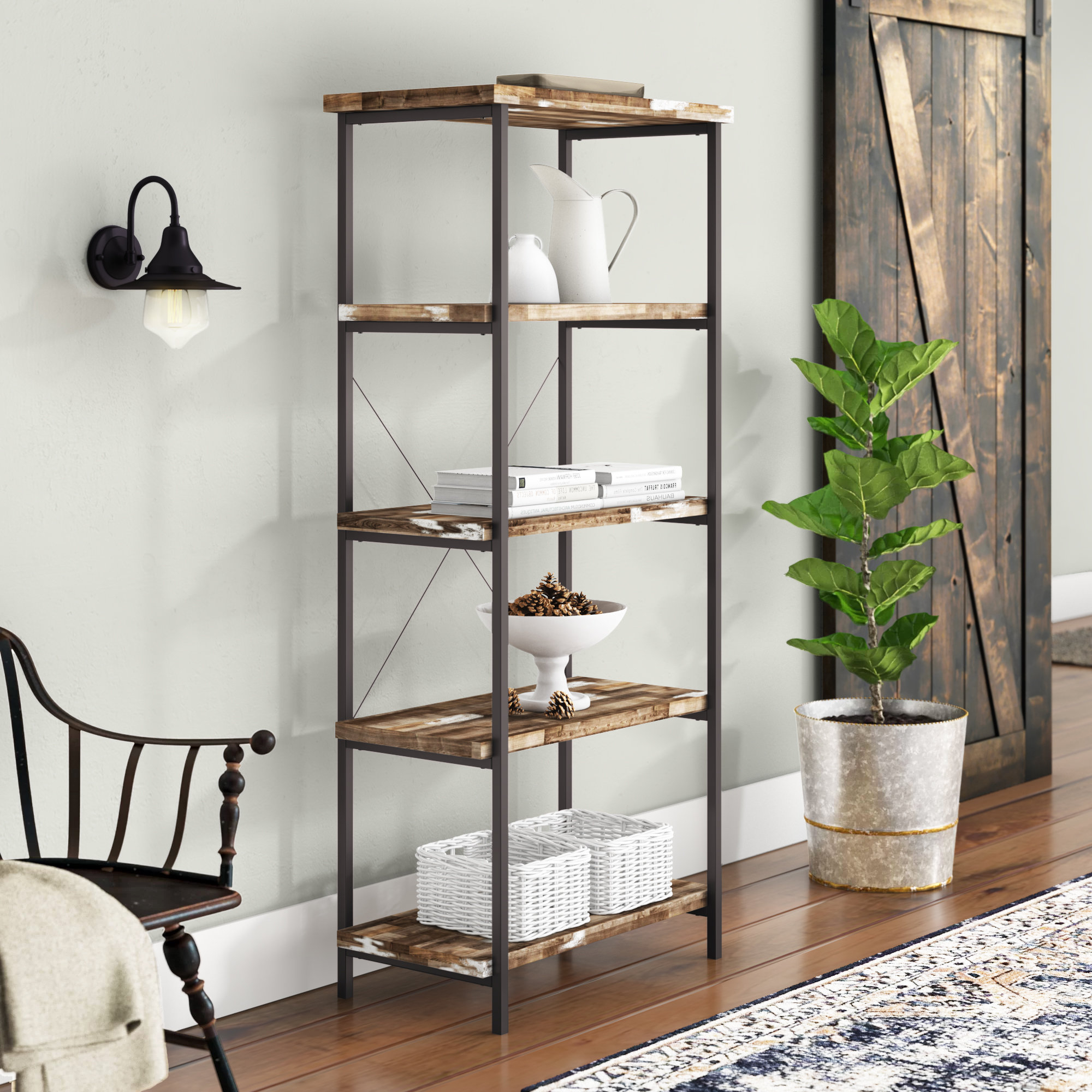 Fashionable Gladstone Etagere Bookcases Inside Laurel Foundry Modern Farmhouse Etagere You'll Love In (View 18 of 20)