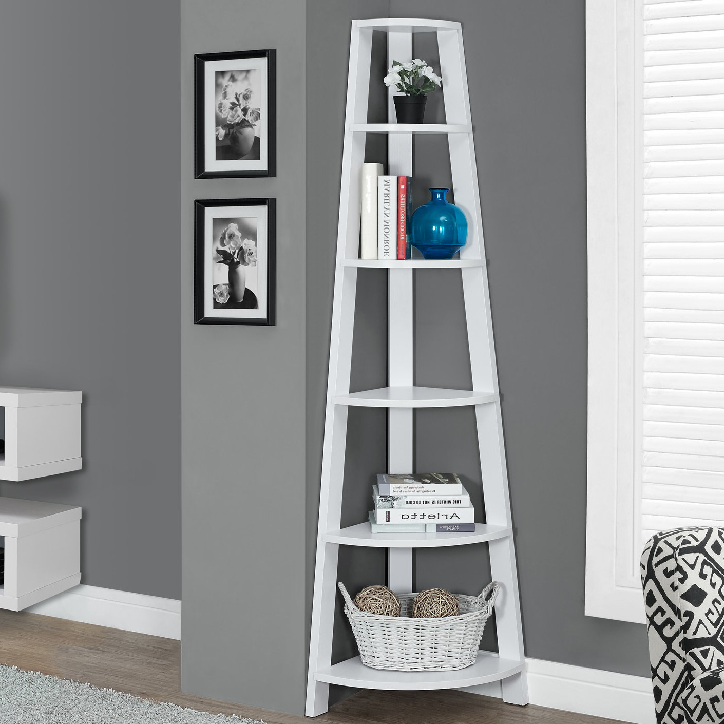 Fashionable Hewitt Corner Bookcase With Regard To Stoneford Corner Bookcases (View 15 of 20)