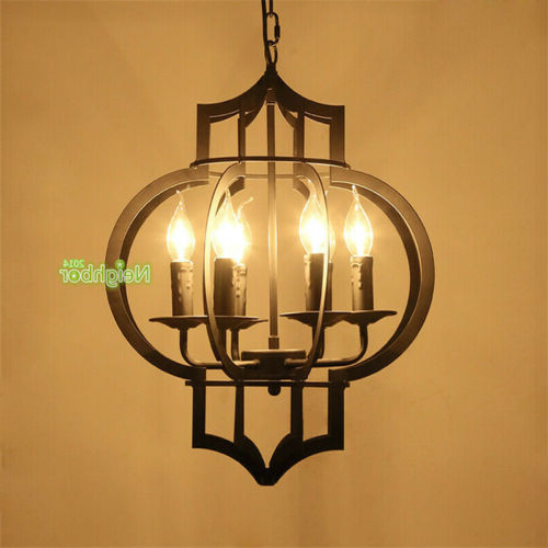 Fashionable Light Candle Pendant Black Ceiling Chandelier Iron Style With Regard To Gaines 9 Light Candle Style Chandeliers (View 5 of 25)
