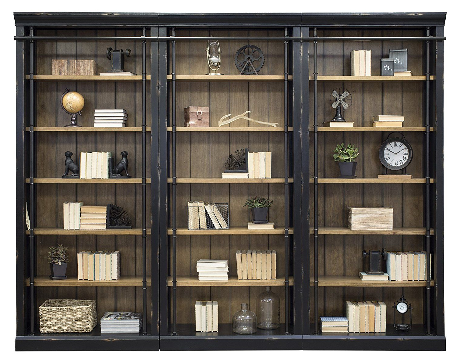 Fashionable Marilee Library Bookcases With Regard To Amazon: Martin Furniture Imte4094X3 Imte402 Toulouse  (View 5 of 20)