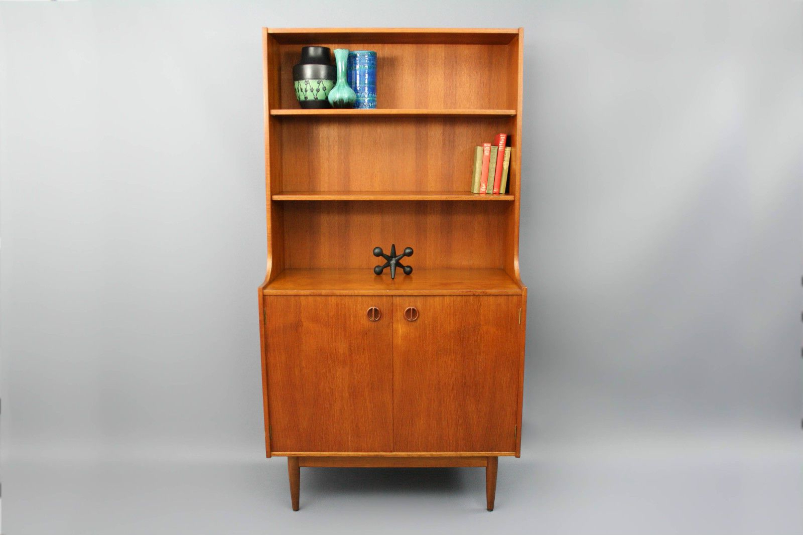 Fashionable Parker Modern Etagere Bookcases In Mid Century Parker Teak Wall Unit Retro Vintage Sideboard (View 4 of 20)