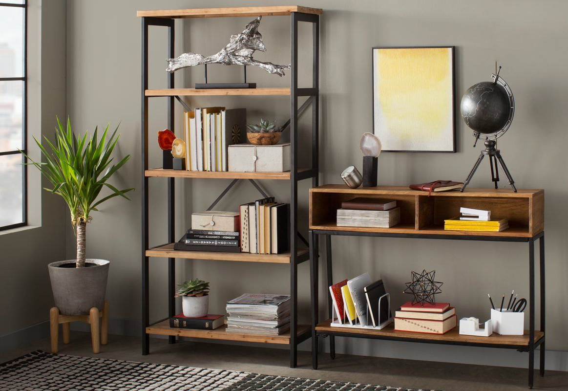 Fashionable Parthenia Etagere Bookcases With Parthenia Etagere Bookcase In  (View 2 of 20)