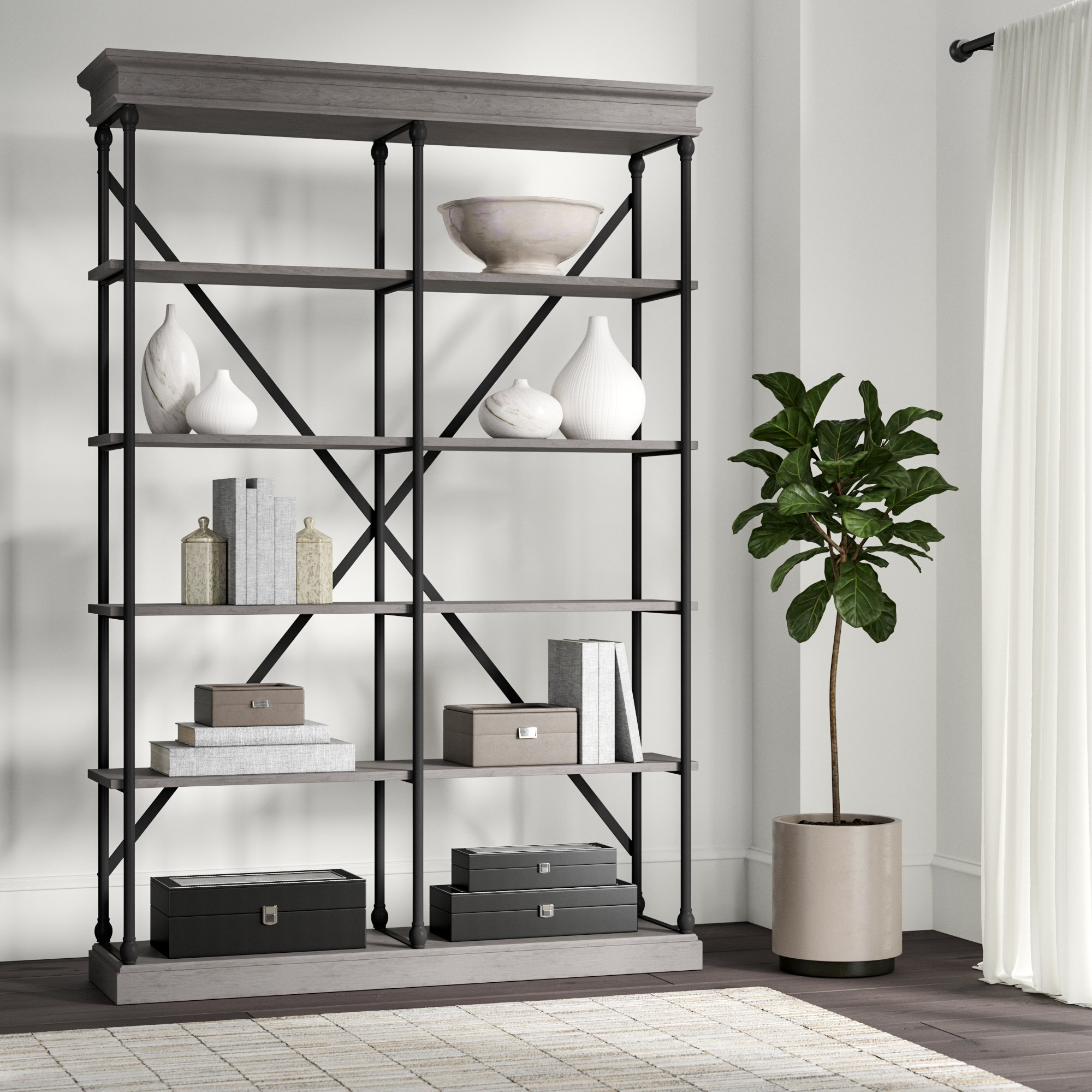 Fashionable Poynor Library Bookcase In Thea Blondelle Library Bookcases (View 6 of 20)