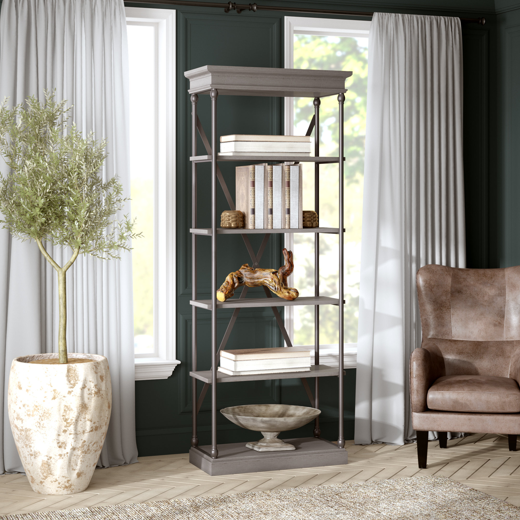 Fashionable Poynor Library Bookcases With Poynor Etagere Bookcase (View 1 of 20)