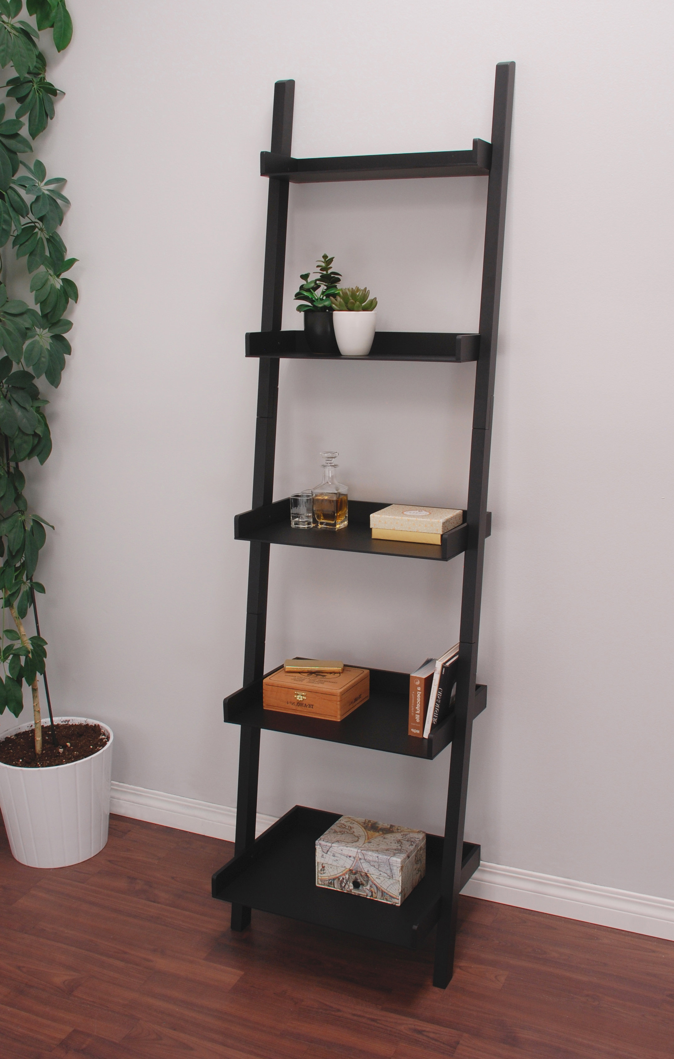 Fashionable Saniyah Ladder Bookcase Intended For Riddleville Ladder Bookcases (View 5 of 20)
