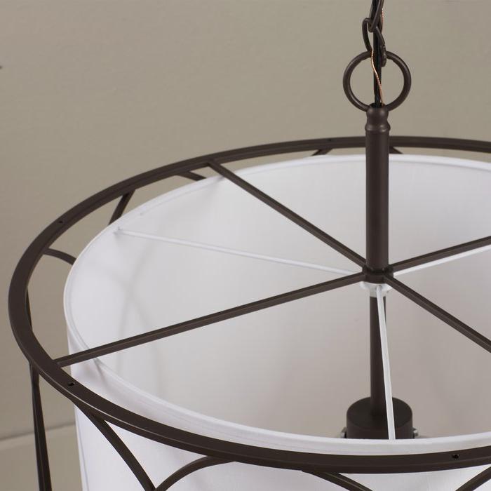 Fashionable Tadwick 3 Light Single Drum Chandelier Pertaining To Tadwick 3 Light Single Drum Chandeliers (View 4 of 25)