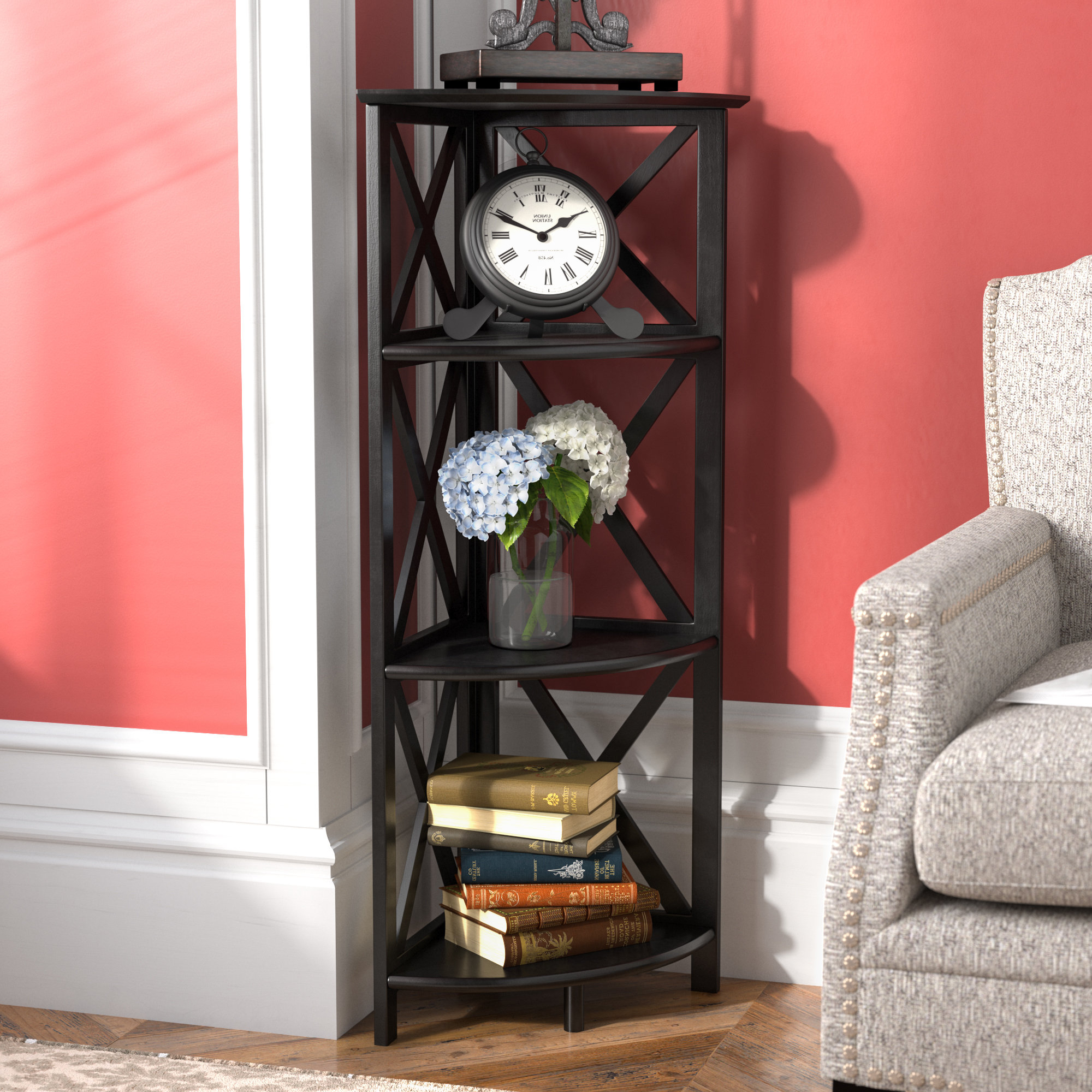 Fashionable Thelen Corner Bookcase Inside Duerr Corner Unit Bookcases (View 10 of 20)