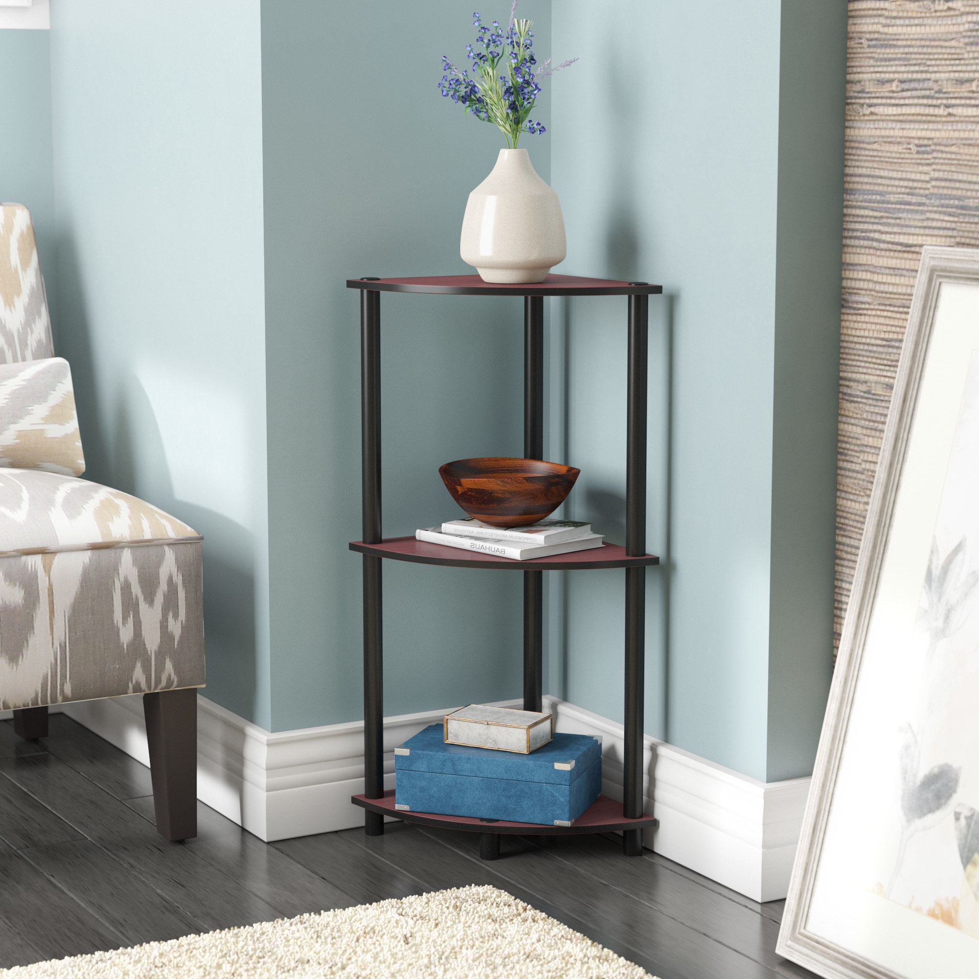 Fashionable Thelen Corner Bookcases Intended For Baril Corner Bookcase (View 7 of 20)