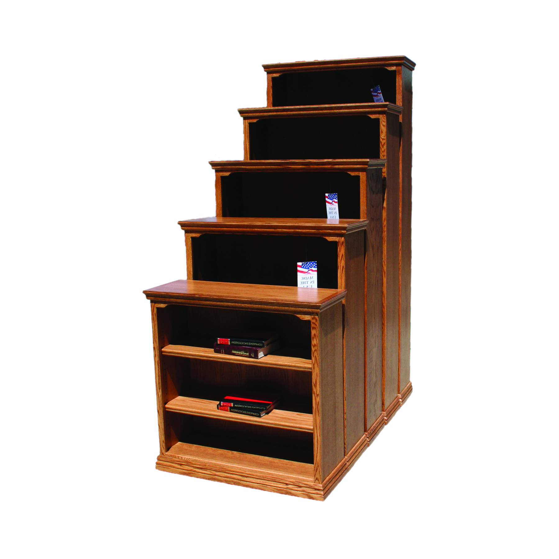 """Fashionable Traditional Oak 24"""" Standard Bookcase – Odc Products Regarding Series C Standard Bookcases (View 10 of 20)"""