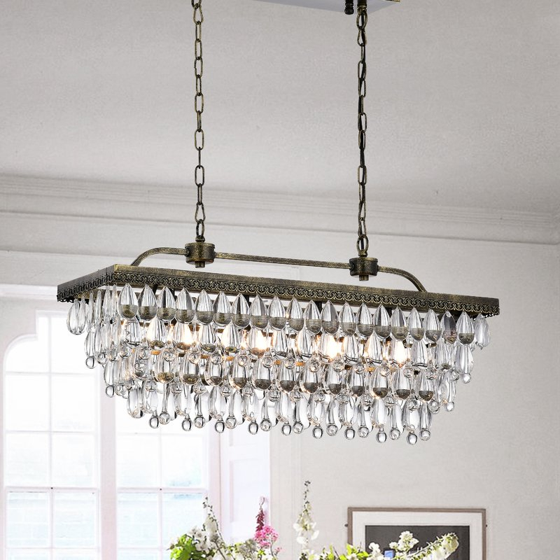 Featured Photo of Whitten 4 Light Crystal Chandeliers