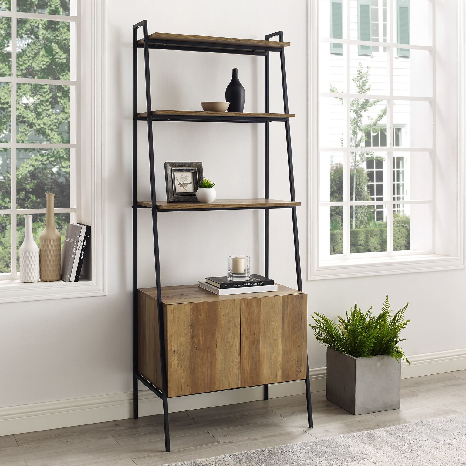 Favorite Almanzar Ladder Bookcases In Caldwell Ladder Bookcase (View 13 of 20)