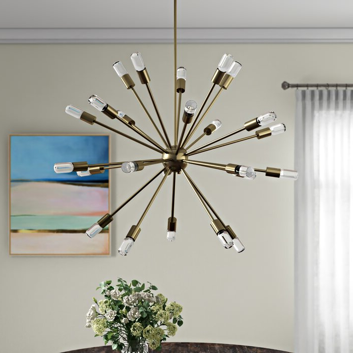Favorite Bacchus 12 Light Sputnik Chandeliers With Kendall 24 Light Chandelier (View 12 of 25)