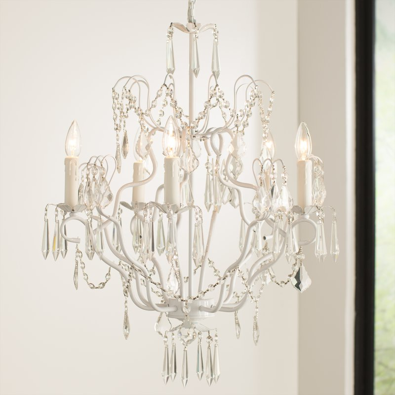 Favorite Clemence 5 Light Candle Style Chandelier Within Hesse 5 Light Candle Style Chandeliers (View 6 of 25)