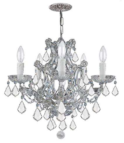 Favorite Crystorama Lighting Group 4405 Ch Cl Mwp Maria Theresa 5 For Thresa 5 Light Shaded Chandeliers (View 8 of 25)