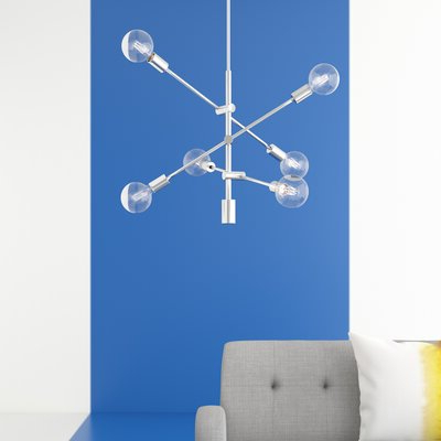 Favorite Eladia 6 Light Sputnik Chandeliers Pertaining To Hashtag Home Eladia 6 Light Sputnik Chandelier Finish (View 11 of 25)