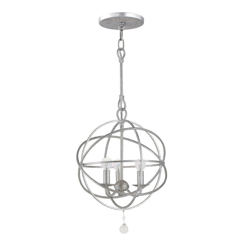 Favorite Gregoire 6 Light Globe Chandeliers Regarding Gregoire 3 Light Globe Chandelier (View 7 of 25)
