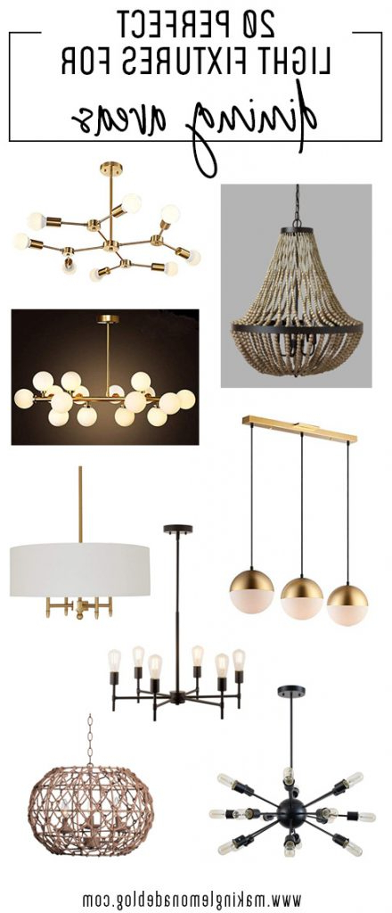 Favorite Montes 3 Light Drum Chandeliers Within 20 Light Fixtures Perfect For Dining Areas (View 9 of 25)