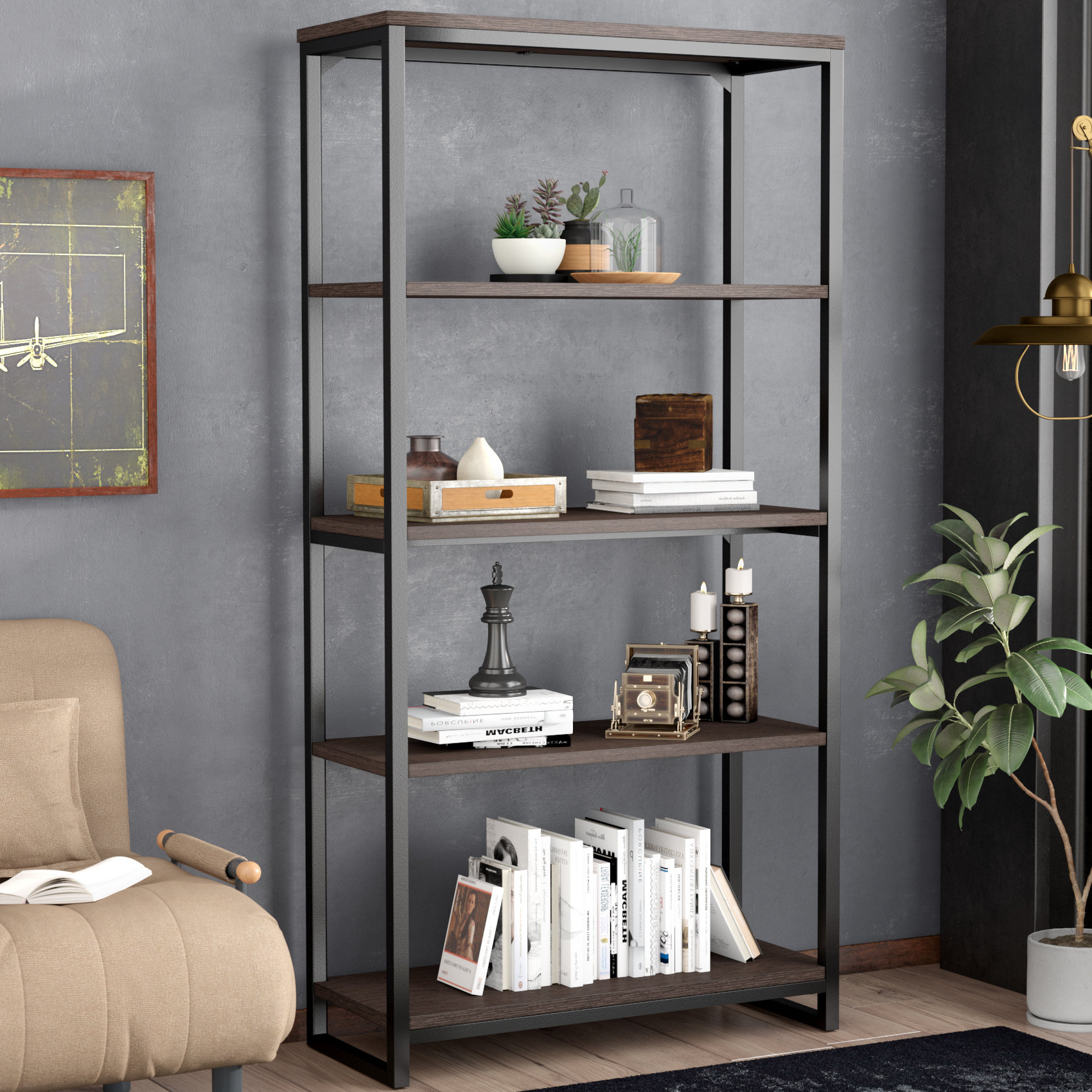 Favorite Moriann Etagere Bookcase Pertaining To Parthenia Etagere Bookcases (View 3 of 20)