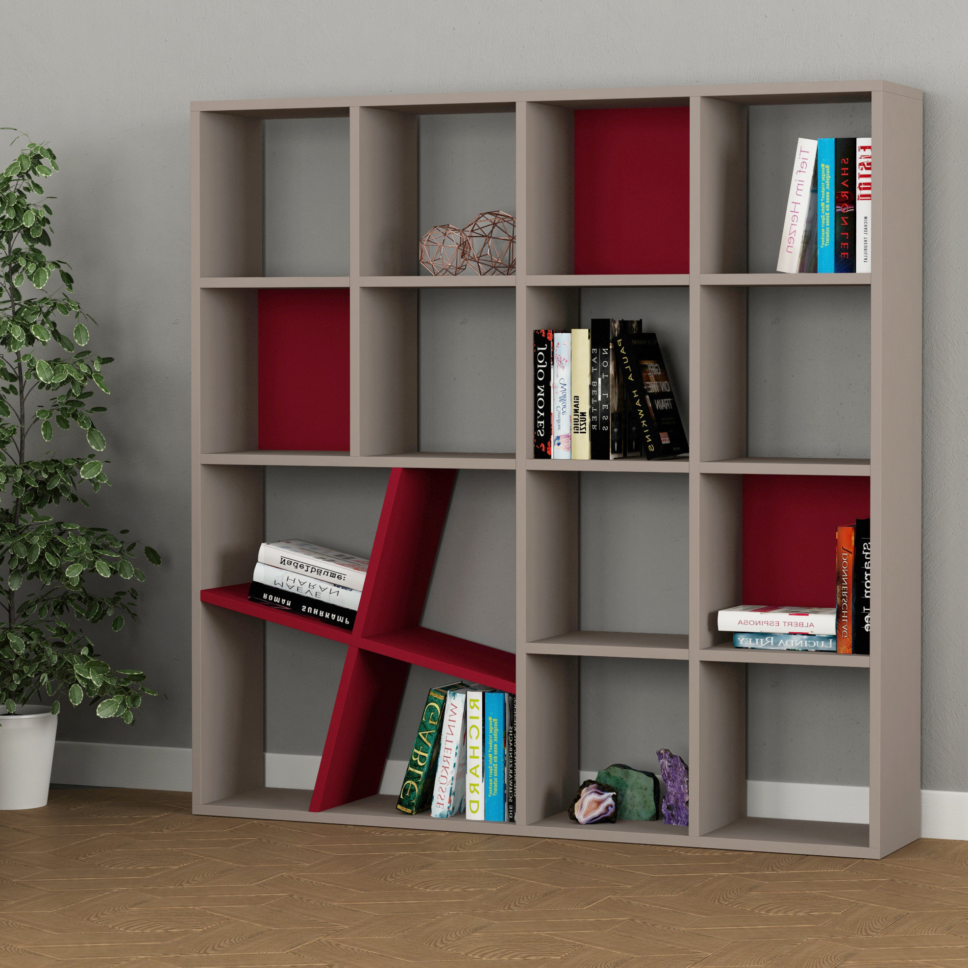 Favorite Rhett Modern Standard Bookcase Throughout Harkless Standard Bookcases (View 9 of 20)