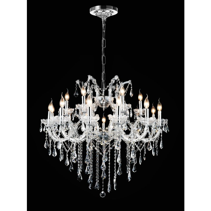Favorite Thresa 5 Light Shaded Chandeliers Within Maria Theresa 19 Light Chandelier (View 25 of 25)