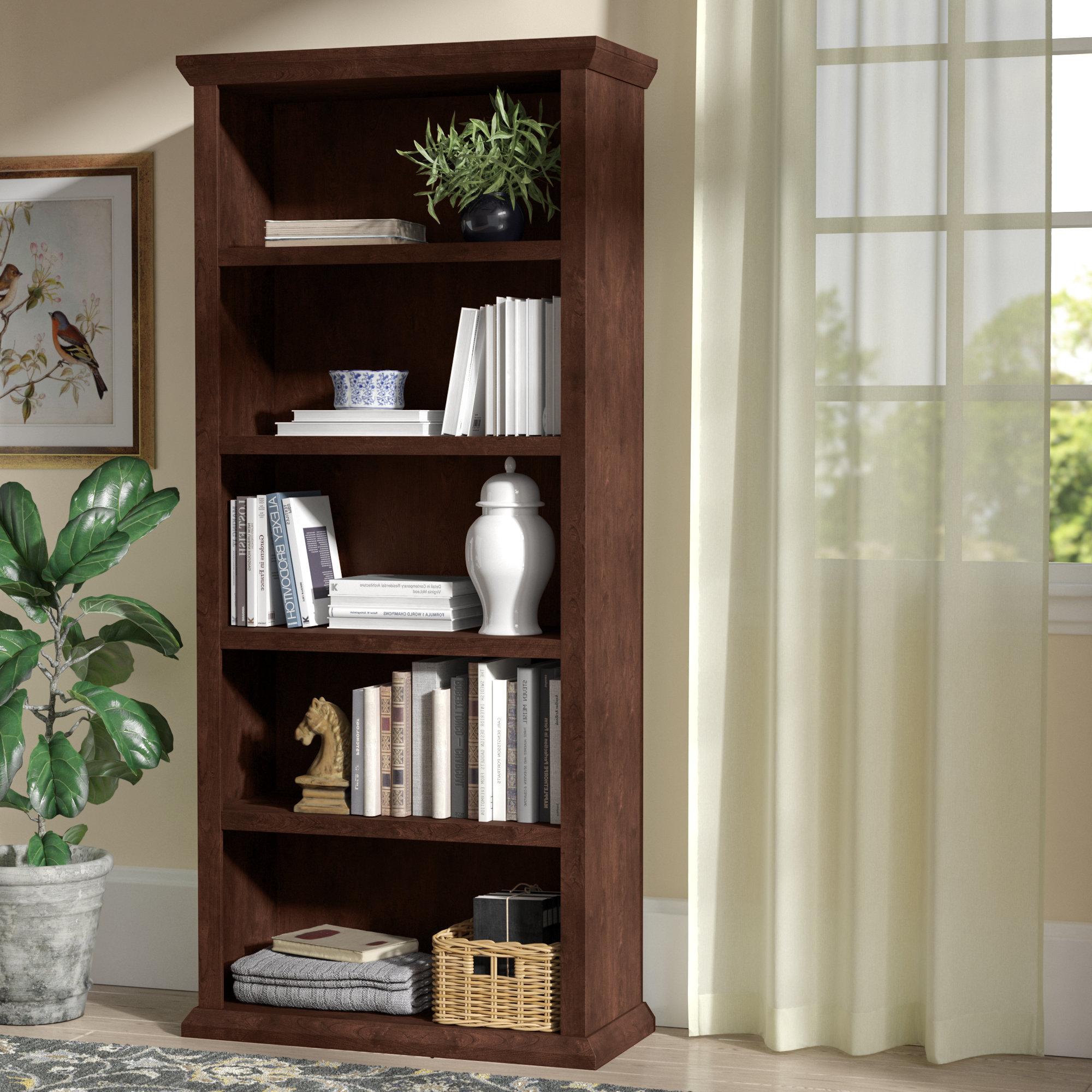 Ferrell Standard Bookcase With Most Up To Date Ryker Standard Bookcases (View 4 of 20)