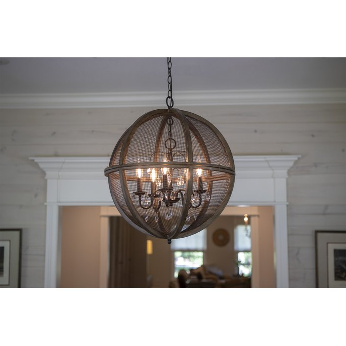Filipe Globe Chandeliers Pertaining To Most Current Frodsham 5 Light Globe Chandelier (View 21 of 25)