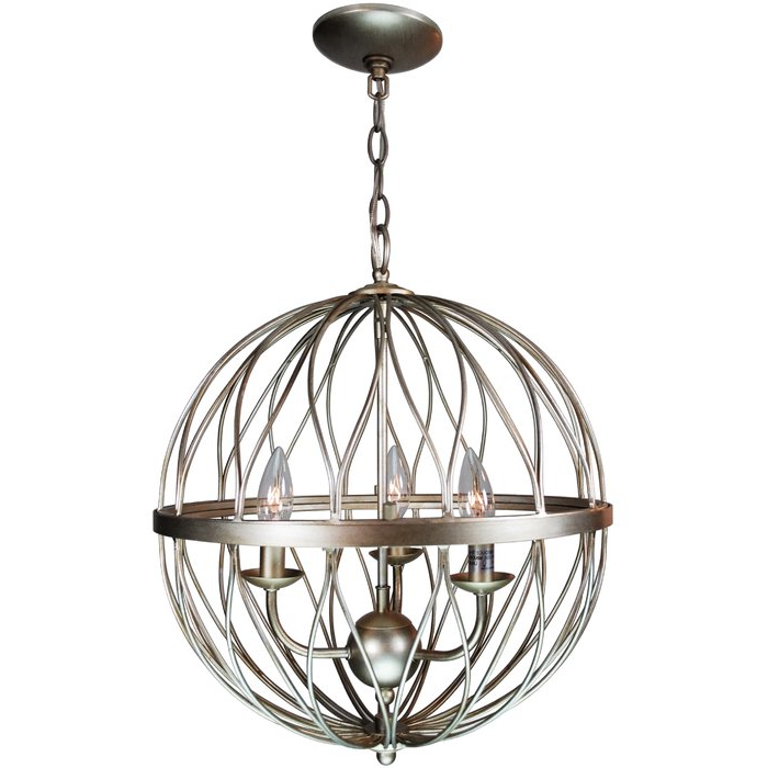 Filipe Globe Chandeliers With Most Recent Brittain 3 Light Globe Chandelier (View 24 of 25)