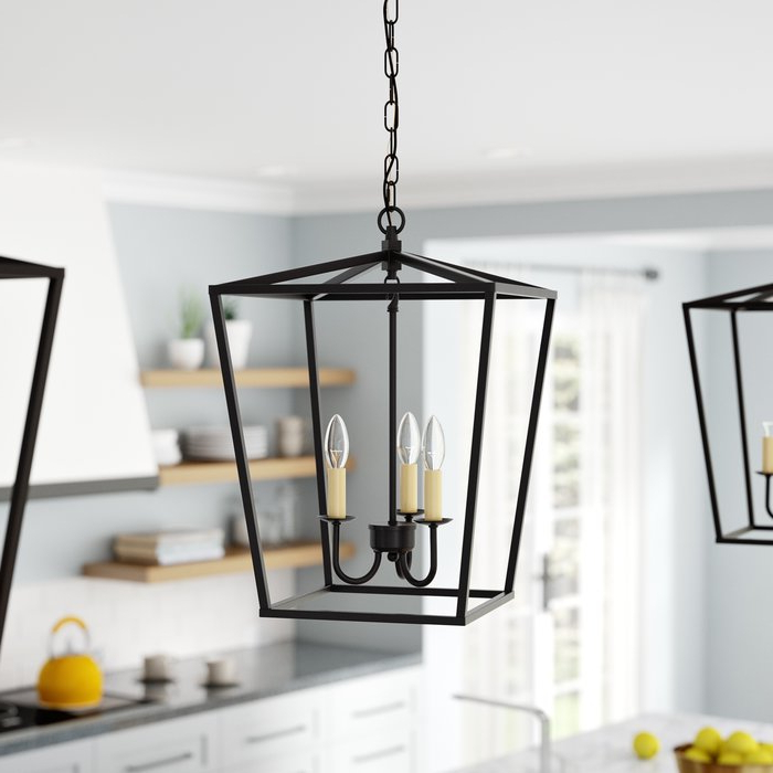 Finnick 4 Light Foyer Pendants Intended For 2018 Finnick 3 Light Lantern Pendant (View 10 of 25)