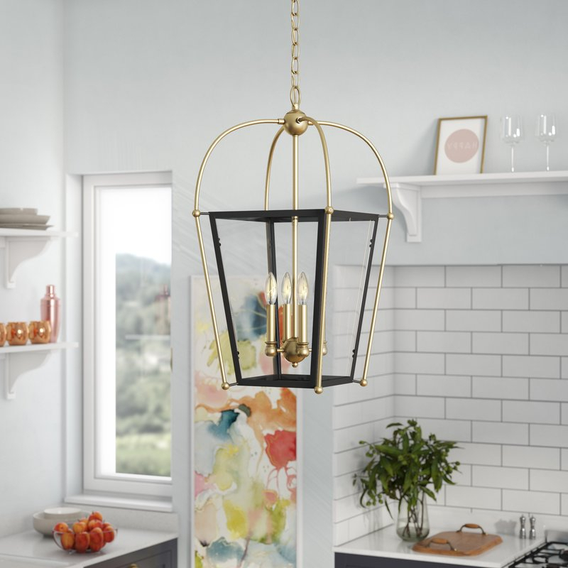 Finnick 4 Light Foyer Pendants With Best And Newest Hedstrom 4 Light Foyer Lantern Pendant (View 15 of 25)