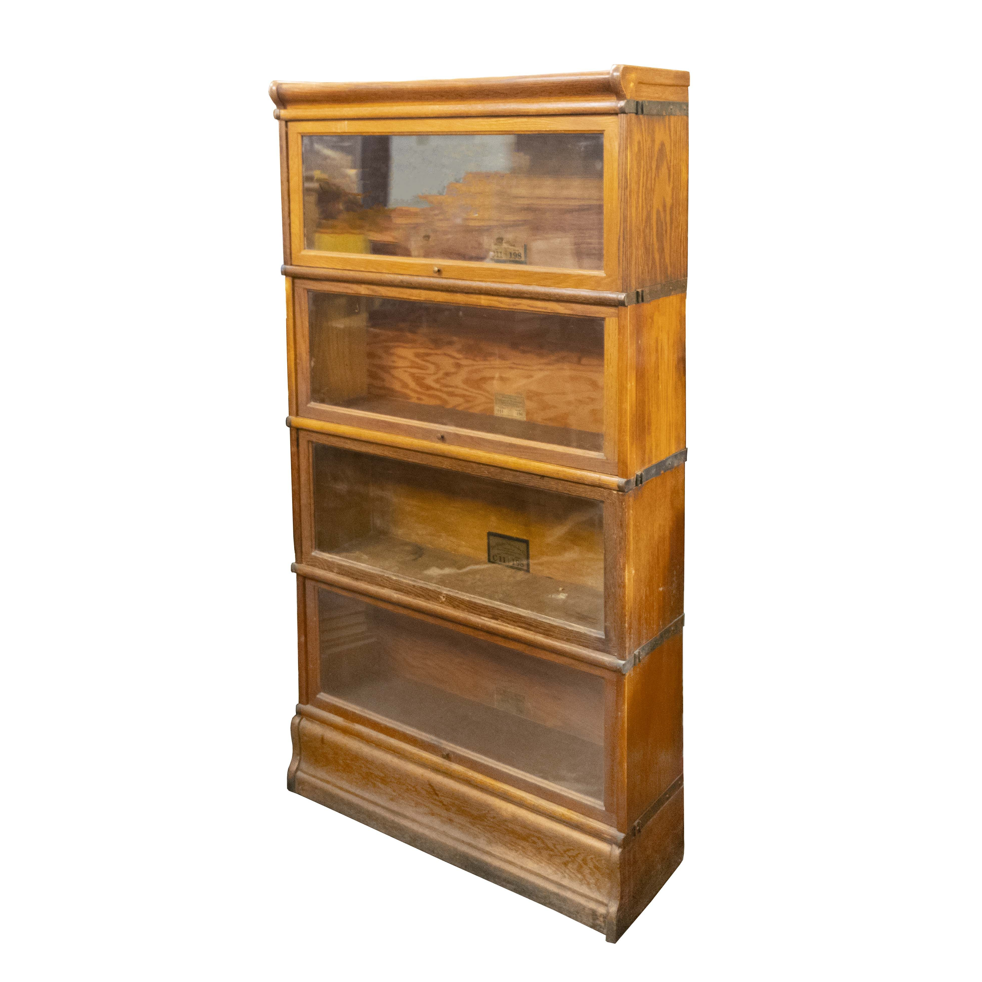 Four Stack Barrister Bookcaseglobe Wernicke Was Made In For Most Recently Released Series C Standard Bookcases (View 8 of 20)