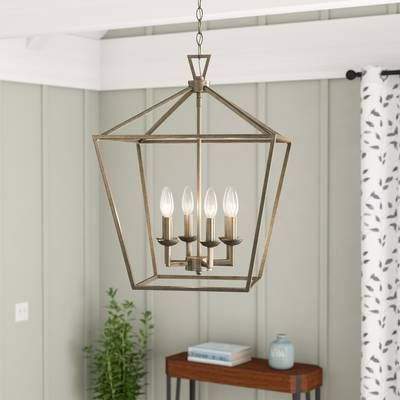 Freeburg 4 Light Square/rectangle Pendant In (View 9 of 25)