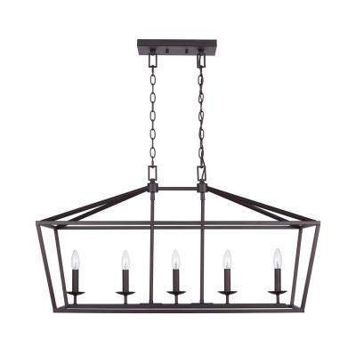 Freemont 5 Light Kitchen Island Linear Chandeliers In 2017 Bronze – Chandeliers – Lighting – The Home Depot (View 19 of 25)