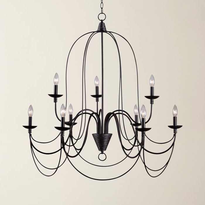 Gaines 9 Light Candle Style Chandeliers For Most Current Kollman 9 Light Candle Style Chandelier (View 8 of 25)
