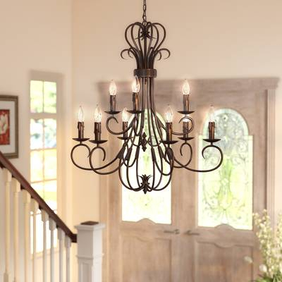 Gaines 9 Light Candle Style Chandeliers In Fashionable Gaines 4 Light Shaded Chandelier (View 9 of 25)
