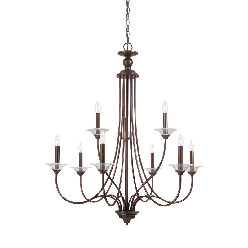 Gaines 9 Light Candle Style Chandeliers Pertaining To Favorite Barbro 9 Light Chandelier (View 10 of 25)