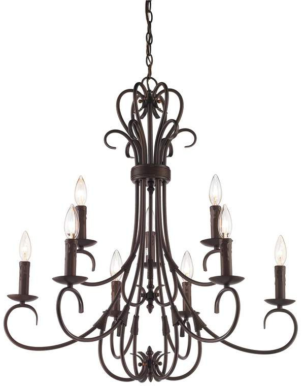 Gaines 9 Light Candle Style Chandeliers Within 2018 Alcott Hill Gaines 9 Light Candle Style Chandelier In  (View 13 of 25)