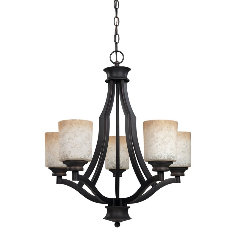 Garza 5 Light Shaded Chandelier For Well Known Crofoot 5 Light Shaded Chandeliers (View 11 of 25)