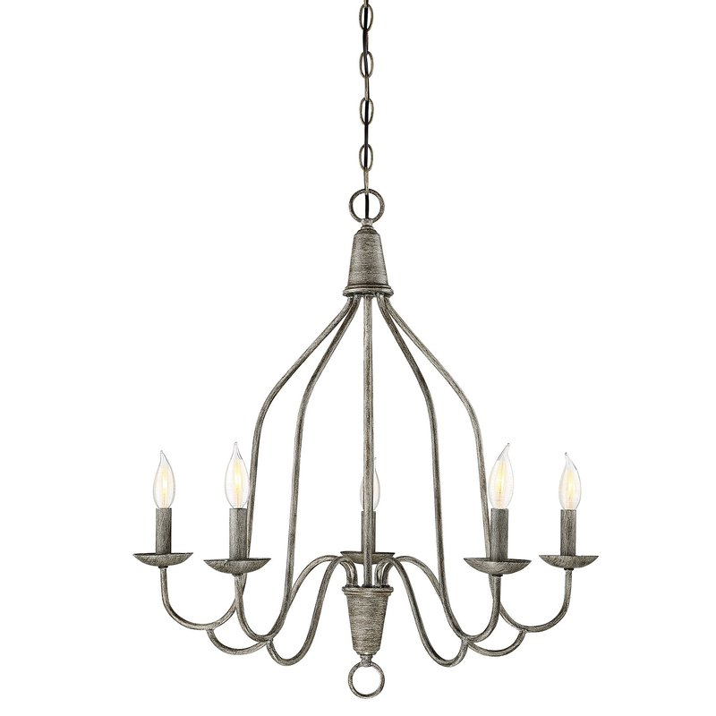 Geeta 5 Light Candle Style Chandelier Pertaining To 2017 Florentina 5 Light Candle Style Chandeliers (View 15 of 25)