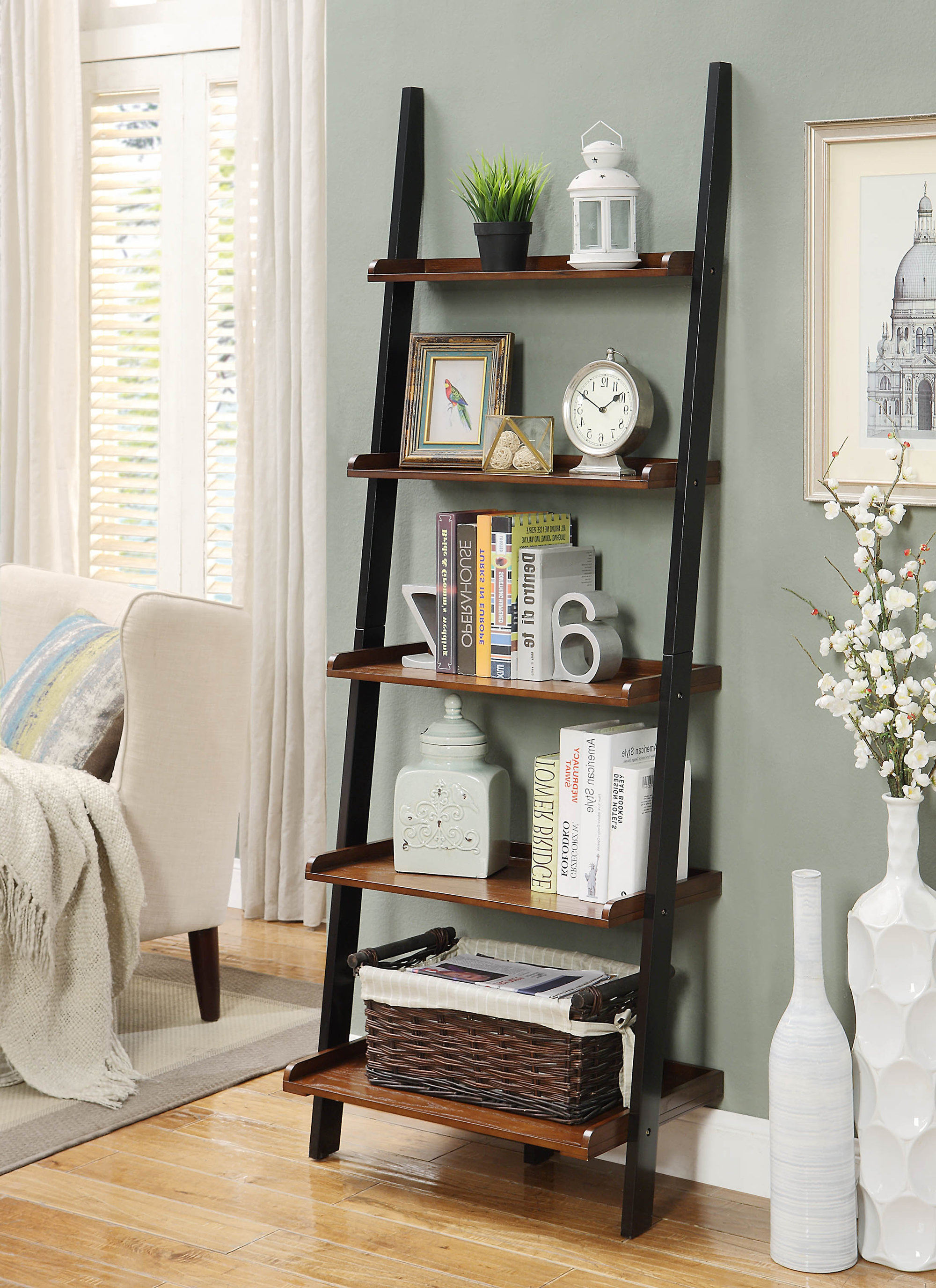 Gilliard Ladder Bookcase With Well Known Ricardo Ladder Bookcases (View 15 of 20)