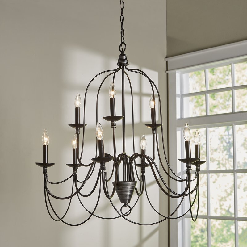 Giverny 9 Light Candle Style Chandeliers With Regard To Recent Watford 9 Light Candle Style Chandelier (View 10 of 25)