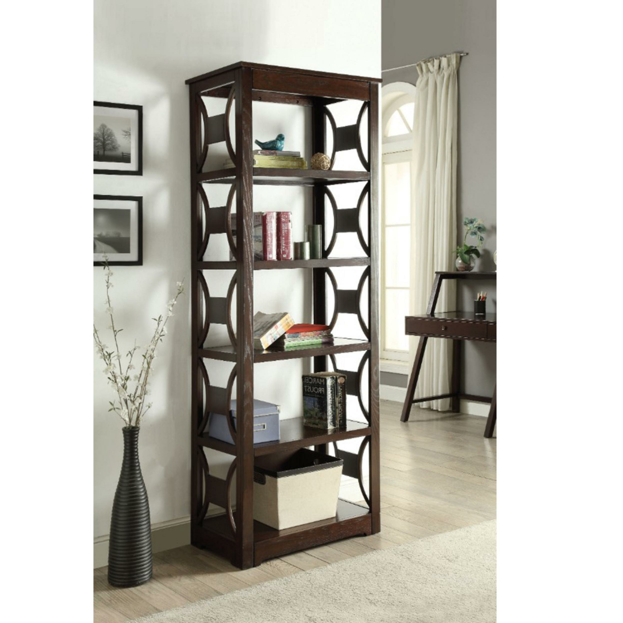 Gladstone Etagere Bookcases Intended For Newest Stegmair Wooden Etagere Bookcase (View 12 of 20)