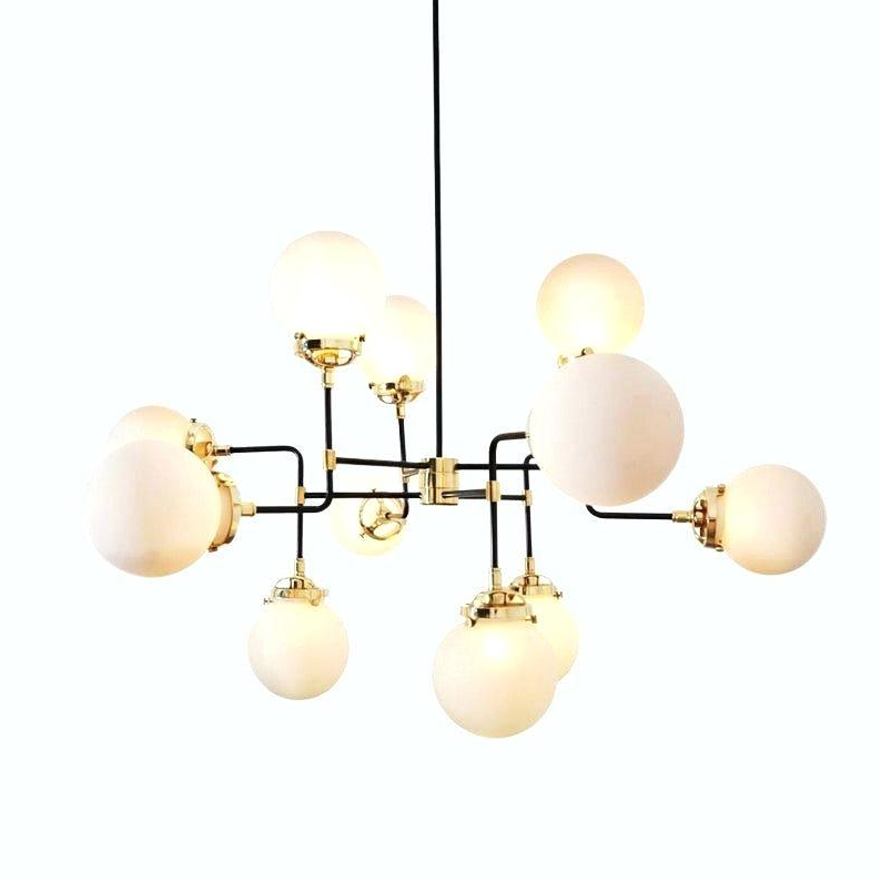 Globe Light Chandelier Bistro Clear Glass 12 Universal Intended For Best And Newest Waldron 5 Light Globe Chandeliers (View 8 of 25)