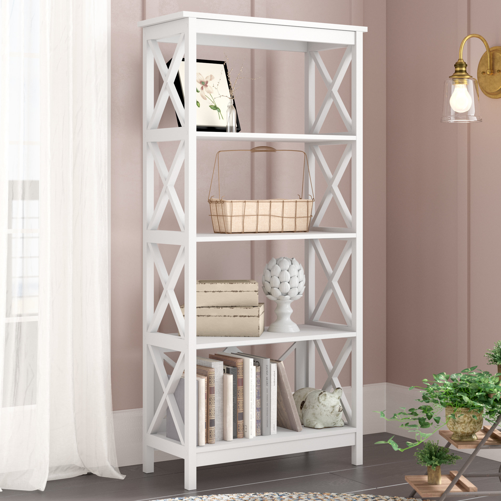 Gracelynn 5 Tier Etagere Bookcases In Well Liked Haskins Etagere Bookcase (View 8 of 20)