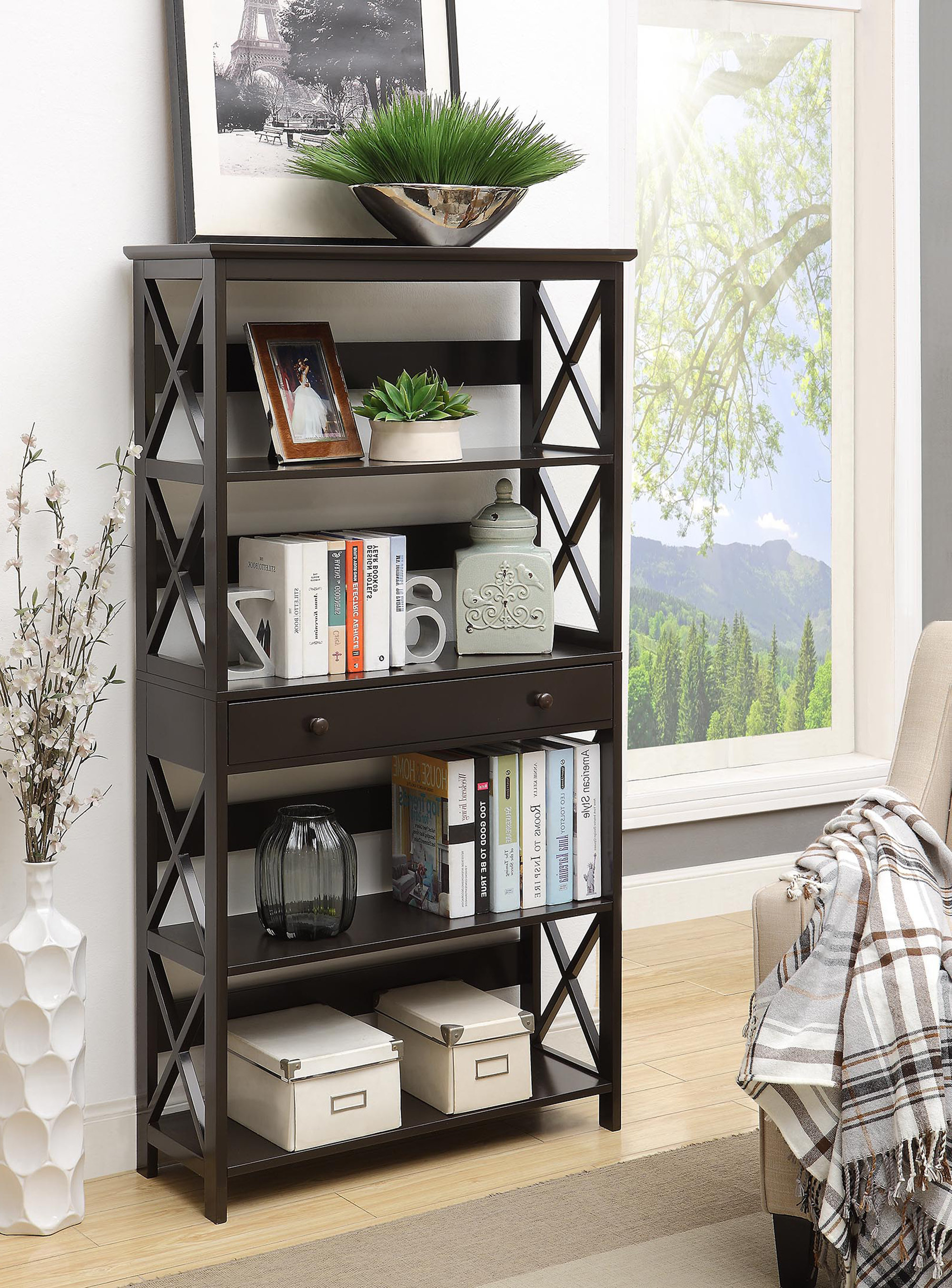 Gracelynn 5 Tier Etagere Bookcases Intended For Best And Newest Gracelynn 5 Tier Etagere Bookcase (View 11 of 20)