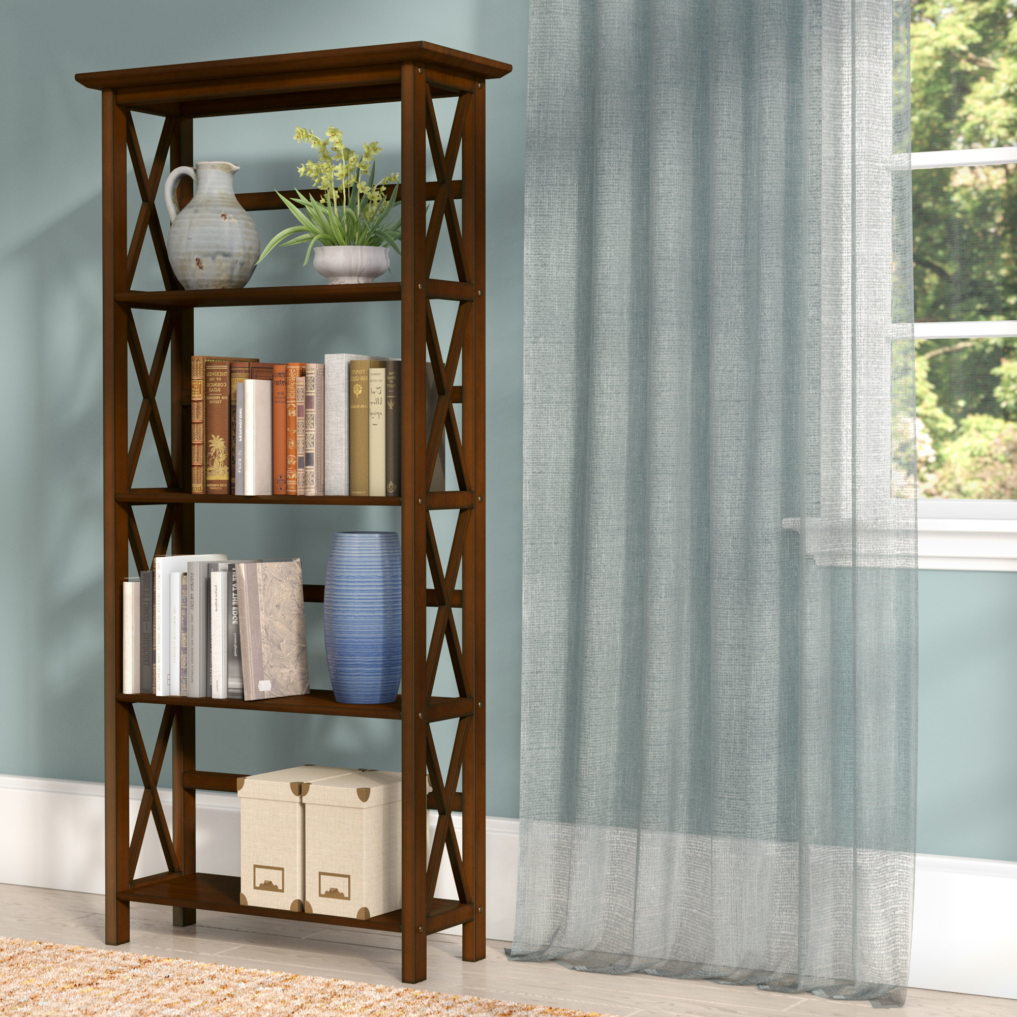 Gracelynn 5 Tier Etagere Bookcases Intended For Most Recent Hitz Etagere Bookcase (View 12 of 20)